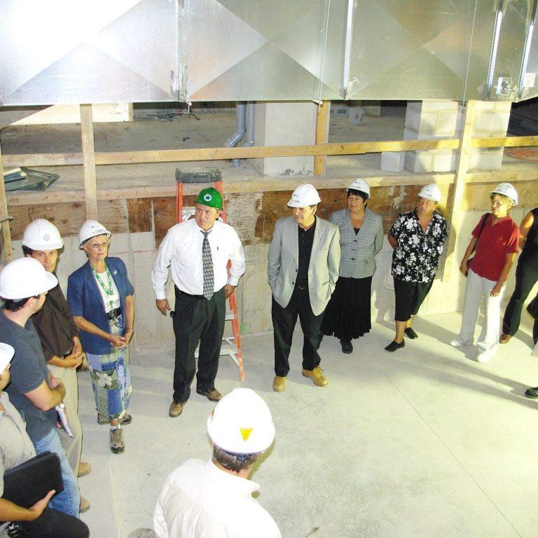 2008 Mark in Atrium Machine Space wth board and staff DAG