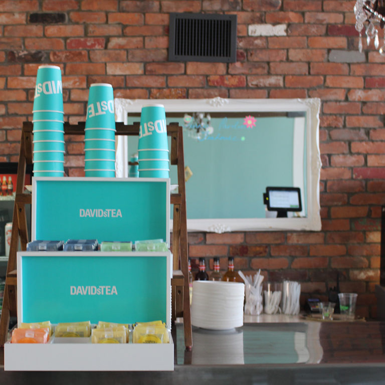DavidsTea Setup in the Turner Pavilion Teahouse