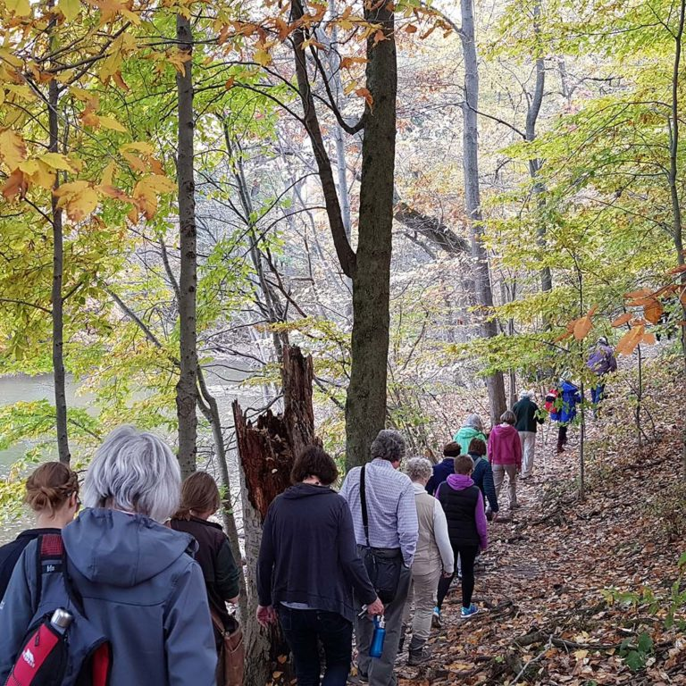 Back To Nature Hike Group On Trail