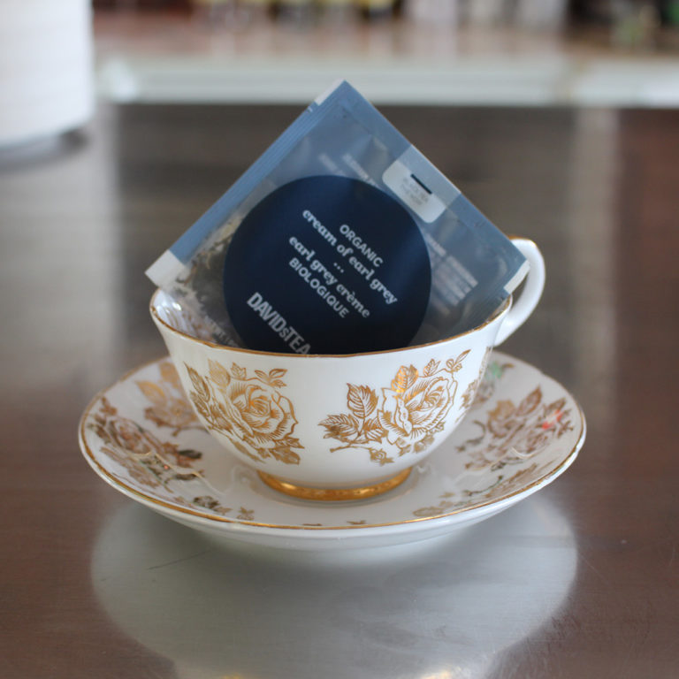 Earl Grey Teabag In China Teacup