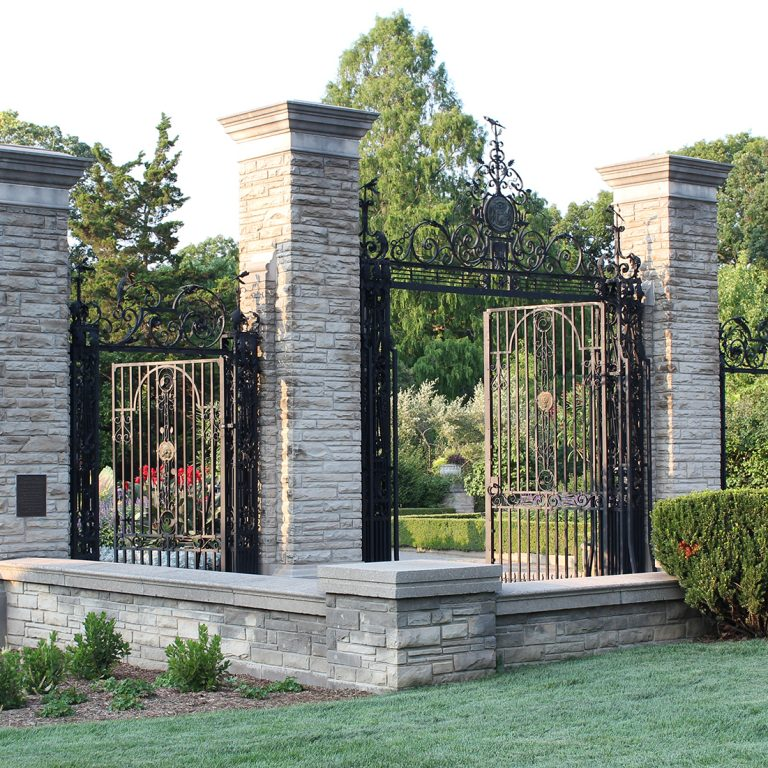 Hendrie Park cast iron Gates in Scented Gardem
