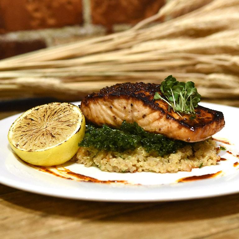 Bruschetta Salmon Dish With Quinoa