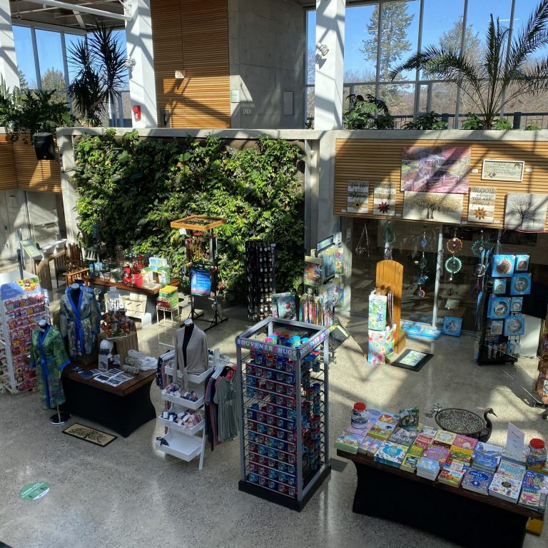 View of the shop located in the lower Atrium