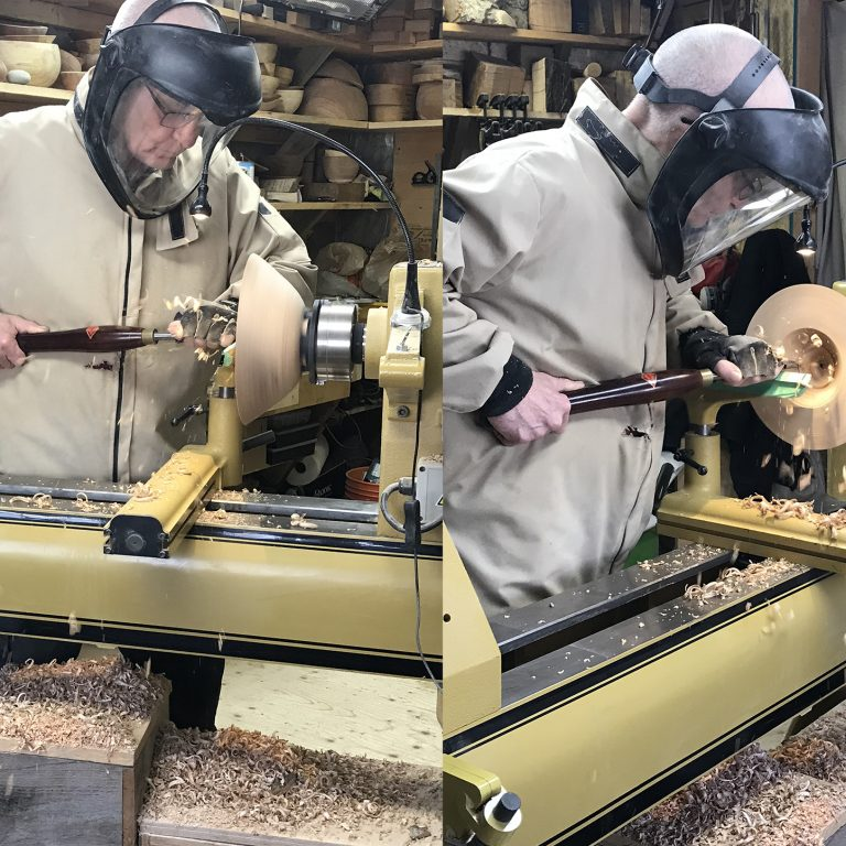 Ken Black rough turning bowls. Images by Jon Peter.