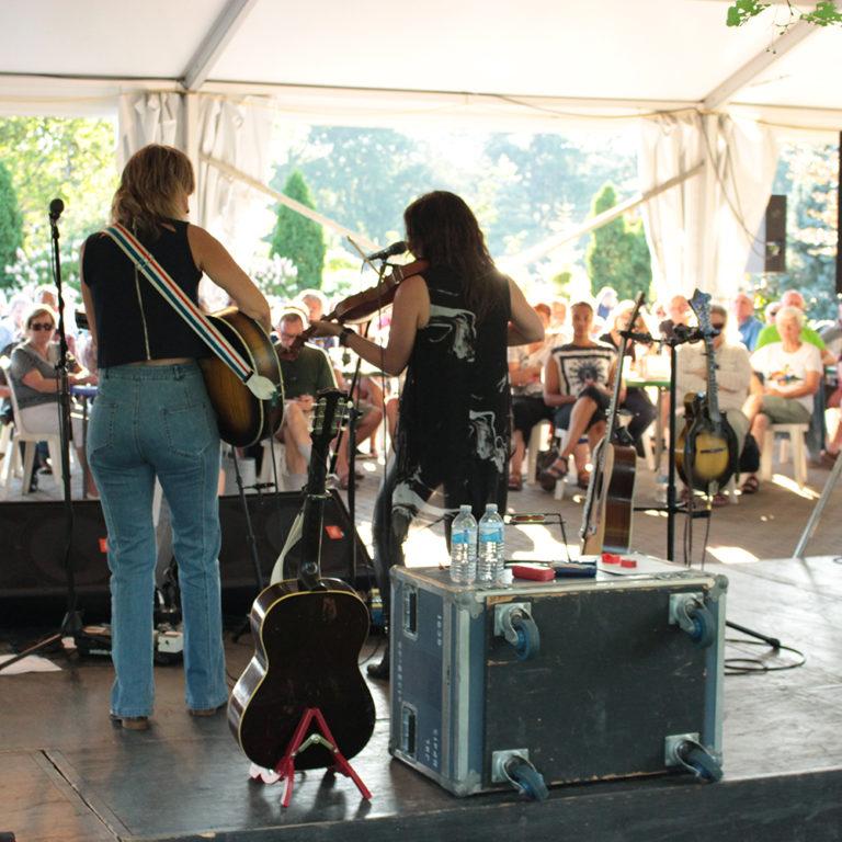 Madison violet performing at garden music nights