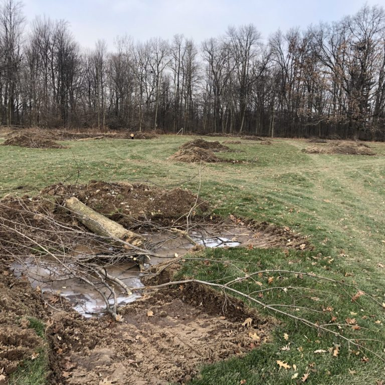 Creating Pits And Mounds In Churchill Park
