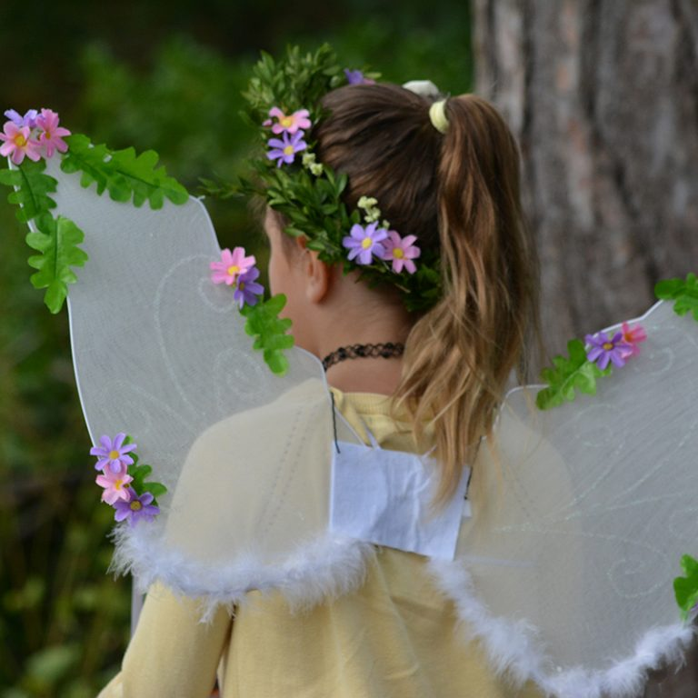 Girl With Fairy Wings At Enchanted Weekend